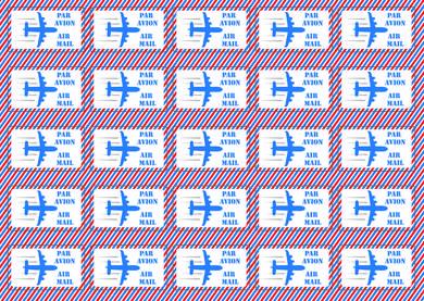 Наклейки «Air mail» (красно-голубые)