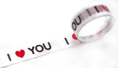 Скотч «Люблю тебя»