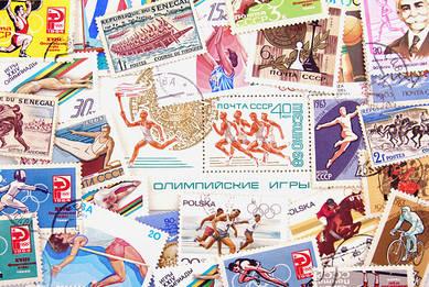 Почтовые марки. Олимпийские игры.
